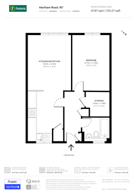 Large floorplan for Hartham Road, Hillmarton Conservation Area, N7