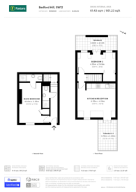 Large floorplan for Bedford Hill, Balham, SW12