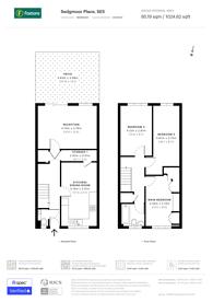 Large floorplan for Sedgemoor Place, Camberwell, SE5
