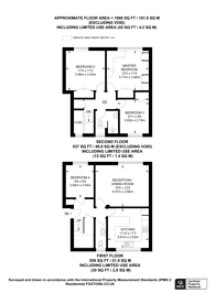 Large floorplan for Siward Road, Earlsfield, SW17