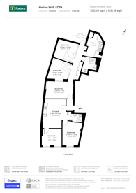 Large floorplan for Hatton Wall, Islington, EC1N