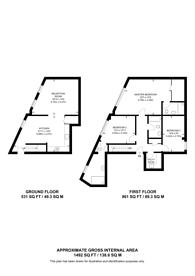 Large floorplan for Morning Lane, Hackney, E9