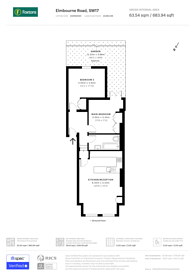 Large floorplan for Elmbourne Road, Heaver Estate, SW17