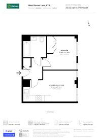 Large floorplan for Parkgate House, West Barnes Lane, Surrey, KT3 6NB, Motspur Park, KT3