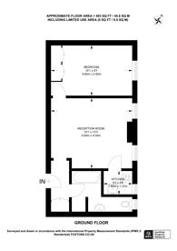 Large floorplan for Tavistock Square, Bloomsbury, WC1H