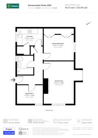 Large floorplan for Somercoates Close, Cockfosters, EN4
