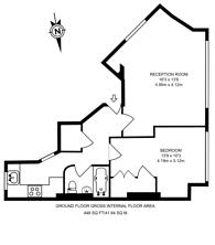 Large floorplan for Balvernie Grove, Southfields, SW18