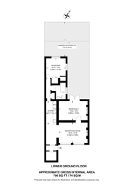 Large floorplan for Rhondda Grove, Bow, E3