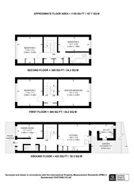 Large floorplan for Grand Walk, Mile End, E1