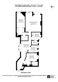 Large floorplan for Basil Street, Knightsbridge, SW3