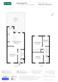 Large floorplan for Staveley Close, Hillmarton Conservation Area, N7