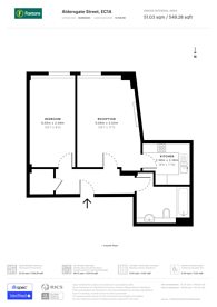 Large floorplan for Aldersgate Street, Clerkenwell, EC1A