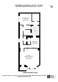 Large floorplan for Chepstow Place, Notting Hill, W2