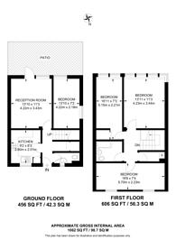 Large floorplan for Myrtle Walk, Hoxton, N1