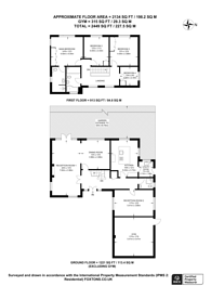Large floorplan for Wey Manor Road, New Haw, KT15