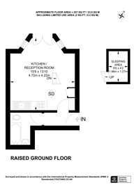 Large floorplan for Collingham Place, South Kensington, SW5