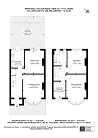 Large floorplan for Fairlands Avenue, Mitcham, CR7
