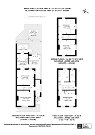 Large floorplan for Harrisons Rise, Croydon, CR0