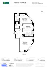 Large floorplan for Bridgewater Square, Clerkenwell, EC2Y