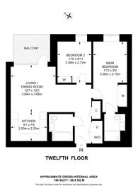 Large floorplan for Clarendon, Harringay, N8