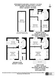 Large floorplan for Chester Close North, Regent's Park, NW1