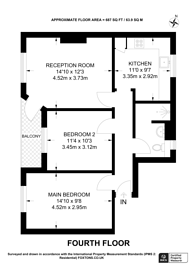 Large floorplan for Bunsen House, Grove Road, Victoria Park, E3