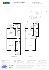 Large floorplan for Granville Square, Finsbury, WC1X