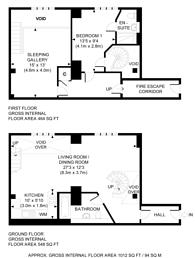 Large floorplan for Marlborough Road, Woolwich, SE18