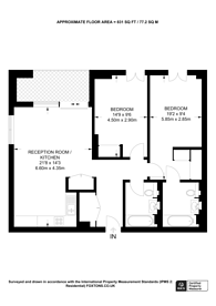 Large floorplan for West End Gate, Little Venice, W2