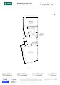 Large floorplan for Lansdowne Crescent, Holland Park, W11