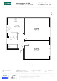 Large floorplan for South Norwood Hill, South Norwood, SE25