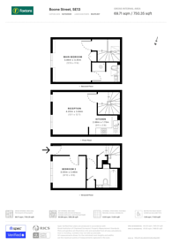 Large floorplan for Lownes Courtyard, Hither Green, SE13