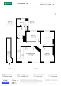 Large floorplan for The Highway, Wapping, E1W