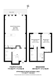 Large floorplan for Wenlock Road, Islington, N1
