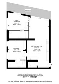Large floorplan for 10 Park Drive, Canary Wharf, E14