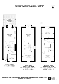 Large floorplan for Kenchester Close, Stockwell, SW8