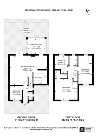 Large floorplan for Sandwick Close, Mill Hill, NW7