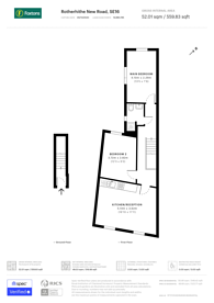 Large floorplan for Rotherhithe New Road, South Bermondsey, SE16