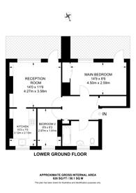 Large floorplan for Tibberton Square, Islington, N1