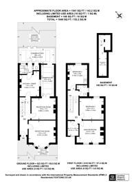 Large floorplan for Haldon Road, Wandsworth, SW18