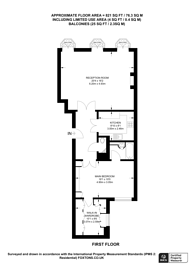 Large floorplan for Upper Brook Street, Mayfair, W1K