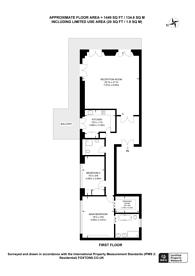 Large floorplan for Courtfield Gardens, Chelsea, SW5