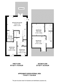 Large floorplan for Shrubbery Road, Streatham Hill, SW16