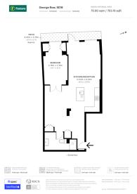 Large floorplan for George Row, Bermondsey, SE16