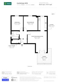 Large floorplan for Camilla Road, Bermondsey, SE16
