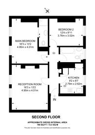 Large floorplan for Lamont Road, Chelsea, SW10