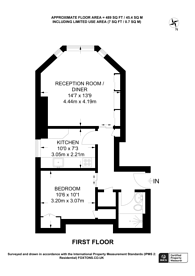 Large floorplan for Fitzjohns Mansions, Hampstead, NW3