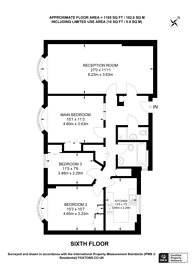 Large floorplan for Queensway, Bayswater, W2