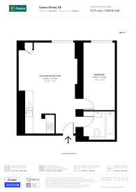 Large floorplan for Tyssen Street, Dalston, E8