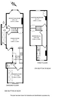 Large floorplan for Ormonde Road, Godalming, GU7